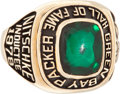 Football Collectibles:Others, 1978 Ray Nitschke Green Bay Packers Hall of Fame Ring....