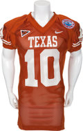 Football Collectibles:Uniforms, 2003 Vince Young Game Worn University of Texas Longhorns Jersey - With Holiday Bowl Patch!...