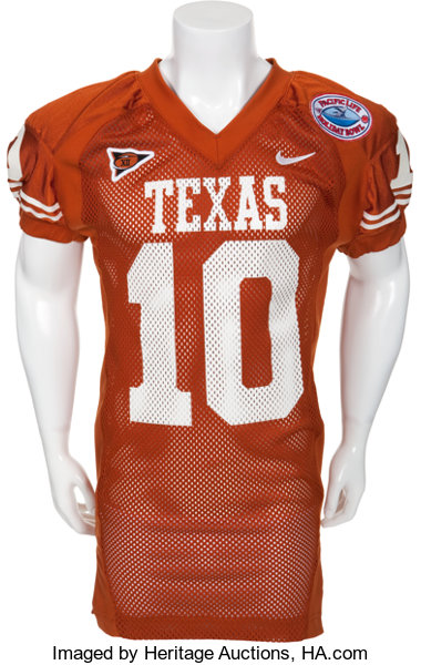 info for e16fb 63e9c 2003 Vince Young Game Worn University of Texas Longhorns ...