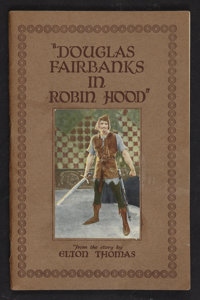 """Robin Hood (Douglas Fairbanks Picture Corporation, 1922). Story of the Film Program (Multiple Pages) (5.25"""" X 8&quo..."""
