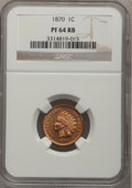 Proof Indian Cents: , 1870 1C PR64 Red and Brown NGC. NGC Census: (90/90). PCGS Population (76/38). Mintage: 1,000. Numismedia Wsl. Price for pro...