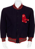 Baseball Collectibles:Uniforms, Late 1950's Boston Red Sox Game Worn Jacket....