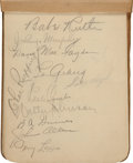 Autographs:Others, Circa 1932 Baseball Autograph Book with Ruth, Gehrig, Walter Johnson....