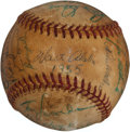 Autographs:Baseballs, 1955 Brooklyn Dodgers Team Signed Baseball with Koufax, Lasorda....