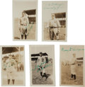 Autographs:Others, 1922 Detroit Tigers Signed Snapshot Photographs Lot of 5 withHeilmann....