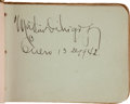 Autographs:Others, Early 1940's Cuban & Negro League Signed Autograph Book with Dihigo, Dandridge....