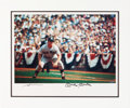 Autographs:Photos, Circa 1990 Mickey Mantle & Neil Leifer Signed Large UDAPhotograph....