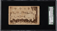 1869 Peck & Snyder Cincinnati Red Stockings-Small Team Card SGC 20 Fair 1.5