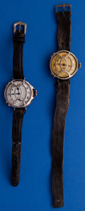 Timepieces:Wristwatch, Two Vintage Swiss Trench Wristwatches. ... (Total: 2 Items)