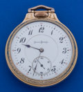 Timepieces:Pocket (post 1900), Illinois 16 Size 21 Jewel Sangamo Pocket Watch Display Case. ...