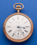 Timepieces:Pocket (post 1900), Waltham 18 Size Open Face Pocket Watch. ...