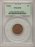 Proof Indian Cents: , 1892 1C PR64 Red and Brown PCGS. PCGS Population (135/70). NGCCensus: (158/146). Mintage: 2,745. Numismedia Wsl. Price for...