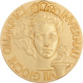 Miscellaneous Collectibles:General, 1956 Cortina Winter Olympics Gold Medal....