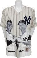 Autographs:Index Cards, 1980's Mickey Mantle & Roger Maris Signed Index Cards withPortrait Jersey....
