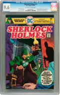 Bronze Age (1970-1979):Miscellaneous, Sherlock Holmes #1 (DC, 1975) CGC NM+ 9.6 Off-white to whitepages....