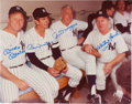 Autographs:Photos, Circa 1980 Mickey Mantle, Billy Martin, Joe DiMaggio & Whitey Ford Signed Large Photograph....