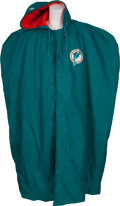 Football Collectibles:Uniforms, 1995 Dan Marino Game Worn Miami Dolphins Sideline Cape....