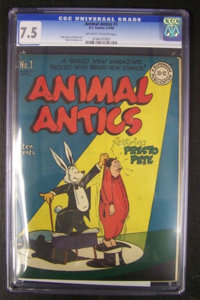 Animal Antics #1 (DC, 1946) CGC VF- 7.5 Off-white to white pages