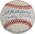 Autographs:Baseballs, Circa 1985 500 Home Run Club Multi-Signed Baseball....