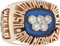 "Hockey Collectibles:Others, 1980 ""Miracle on Ice"" Olympic Hockey Ring Presented to Mark Wells...."