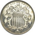 Proof Shield Nickels, 1867 5C Rays PR66 Cameo NGC. Dannreuther-1....