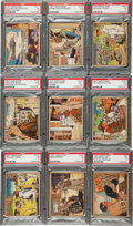 Non-Sport Cards:Sets, 1941 Gum Inc. 'Uncle Sam/Home Defense' PSA-Graded Near MiddleSeries (19/24)....