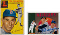 Autographs:Sports Cards, Ted Williams Signed 1991 Upper Deck Card And 1954 Topps #250...