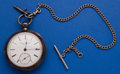 Timepieces:Pocket (pre 1900) , Rockford 18 Size 15 Jewel Coin Silver Key Wind Pocket Watch WithChain. ...