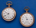 Timepieces:Pocket (post 1900), Two Rockford 17 Jewel 18 Size Pocket Watches Runners. ... (Total: 2Items)