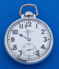 Timepieces:Pocket (post 1900), Ball 21 Jewel 16 Size Pocket Watch. ...