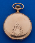 Timepieces:Pocket (post 1900), Longines 16 Size Heavy 14k Gold Hunter's Case Private Label PocketWatch. ...