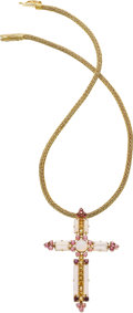 Estate Jewelry:Necklaces, Tourmaline, Citrine, Moonstone, Gold Necklace, Lalaounis. ...