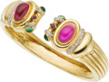 Estate Jewelry:Bracelets, Tourmaline, Diamond, Gold Bracelet. ...