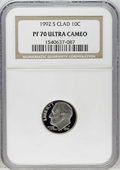Proof Roosevelt Dimes: , 1992-S 10C Clad PR70 Deep Cameo NGC. NGC Census: (132/0). PCGSPopulation (82/0). Numismedia Wsl. Price: $120. (#95274)...