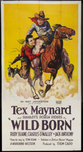 "Movie Posters:Western, Wild Born (Rayart Pictures, 1927). Three Sheet (41"" X 81""). Western.. ..."