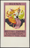 """Movie Posters:Miscellaneous, British Empire Exhibition Travel Poster (Sanders Phillips and Co. Ltd., 1924). Poster (25"""" X 40""""). Miscellaneous.. ..."""
