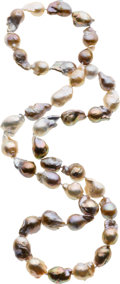 Estate Jewelry:Pearls, Baroque South Sea Cultured Pearl Necklace. ...