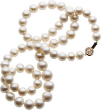 South Sea Cultured Pearl, Gold Necklace