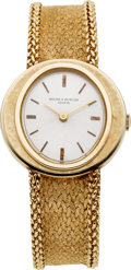 Estate Jewelry:Watches, Baume & Mercier Gentleman's Gold Integral Bracelet Wristwatch, circa 1960. ...