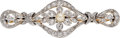 Estate Jewelry:Brooches - Pins, Victorian Cultured Pearl, Diamond, Platinum-Topped Gold Brooch. ...