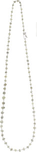 Estate Jewelry:Necklaces, Rough Diamond, White Gold Necklace. ...