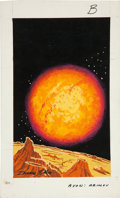 Original Comic Art:Covers, Dean Ellis Isaac Asimov's Science Cover Preliminary OriginalArt (undated)....