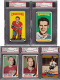 Hockey Cards:Other, Hockey Legends Signed Cards Lot of 5....