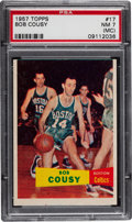 Basketball Cards:Singles (Pre-1970), 1957 Topps Bob Cousy #17 PSA NM 7 (MC)....