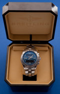 Timepieces:Wristwatch, Breitling Steel B-1 Quartz Chronograph Wristwatch With Box &Papers. ...
