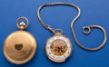 Timepieces:Pocket (post 1900), Two Bucherer New Old Stock Gold Plate Pocket Watches. ... (Total: 2 Items)