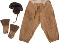 Football Collectibles:Helmets, 1915 Oklahoma vs. Texas Game Worn Helmet and Pants....