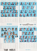 Basketball Collectibles:Others, 1981-92 University of North Carolina Tar Heels Team SignedCalendars Lot of 5, With Unsigned Extras. ...