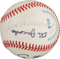 Autographs:Baseballs, 1989 Opening Day Baseball Signed by George HW Bush, HosniMubarek....