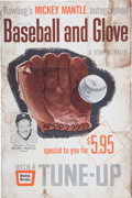 Baseball Collectibles:Others, Circa 1956 Mickey Mantle Rawlings Advertising Poster....